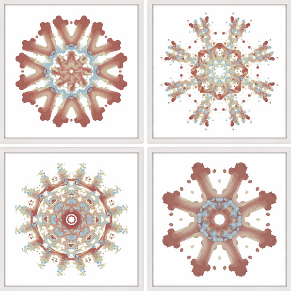 Modern Snowflakes Quadriptych