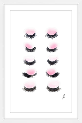 Rows of Lashes