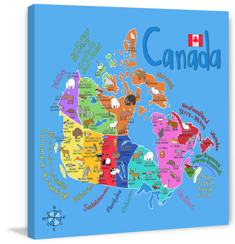 Blue Canadian Map