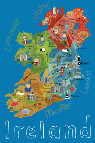 Blue Ireland Map