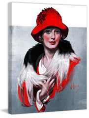 Woman in Red Hat