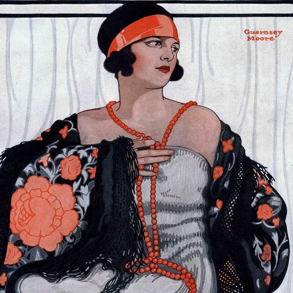 Flapper in Shawl and Beads