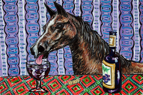 Horse Arabian Wine