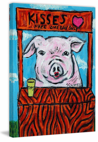 Pig Kissing Booth