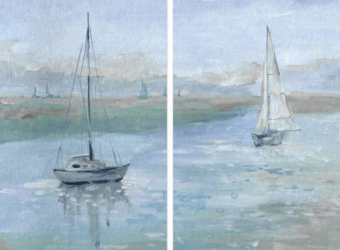 Yachts in the Sea Diptych
