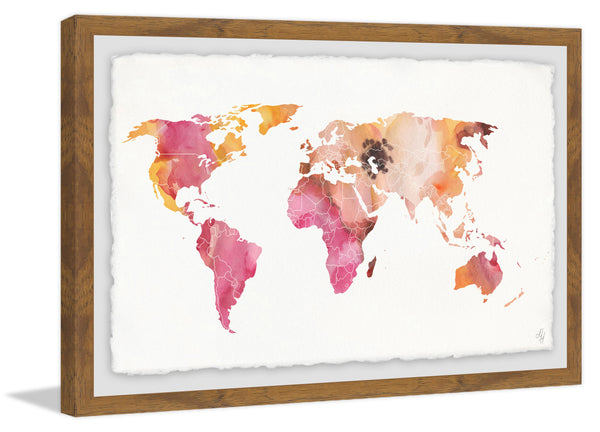 Watercolor Map