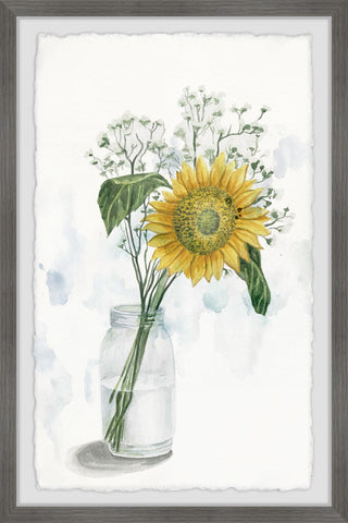 Sunflower in Glass Vase II