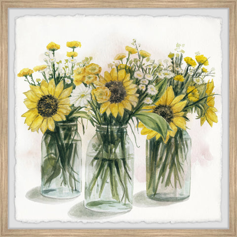 Sunflowers in Glass Jars II