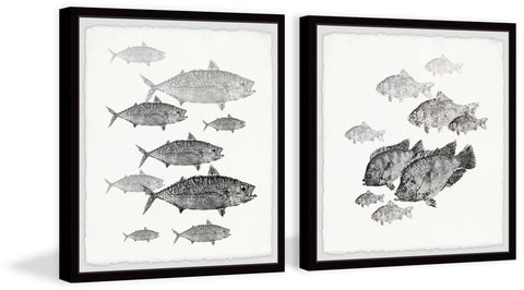 Fishes in Frame Diptych