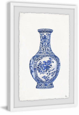 Blue Patterned Vase