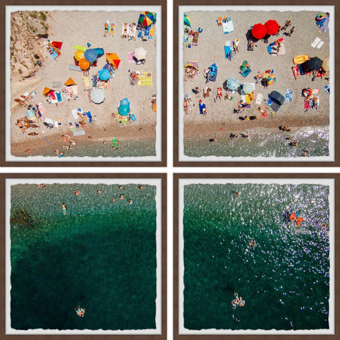 Packed Beach IV Quadriptych