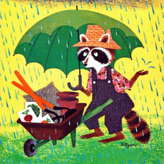 Raccoon with Umbrella