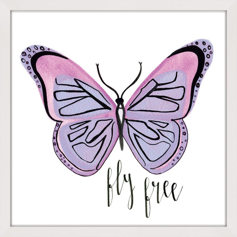 Lavender Butterfly Text