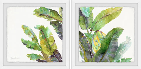 Oh Banana Leaves II Diptych