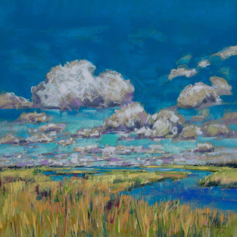 Summer Clouds and Marsh