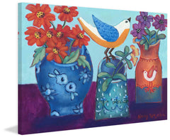 Blue and Orange Vases with Chirp