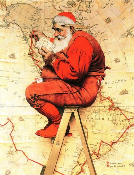 Santa at the Map