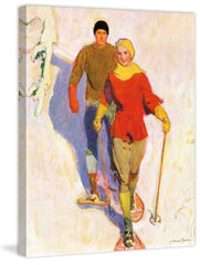 Couple Wearing Snowshoes