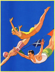 Diving Women and Man