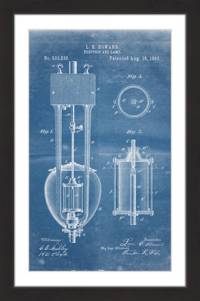 Arc Lamp 2 1893 Blueprint