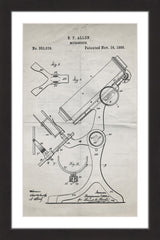 Microscope 1886 Old Paper