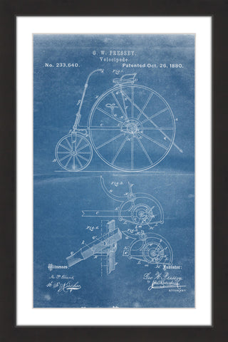 Velocipede 1880 Blueprint