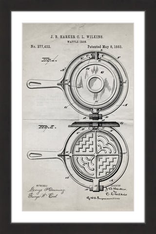 Waffle Iron 1883 Old Paper