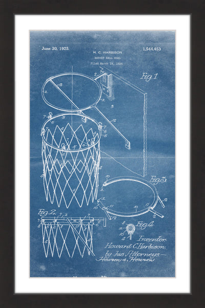 Basketball Hoop 1925 Blueprint