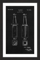 Beer Bottle 1933 Black Paper