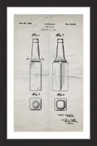 Beer Bottle 1933 Old Paper