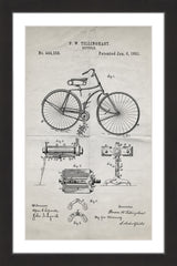 Bicycle 1891 Old Paper
