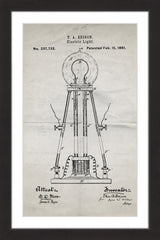 Edison Light 1881 Old Paper