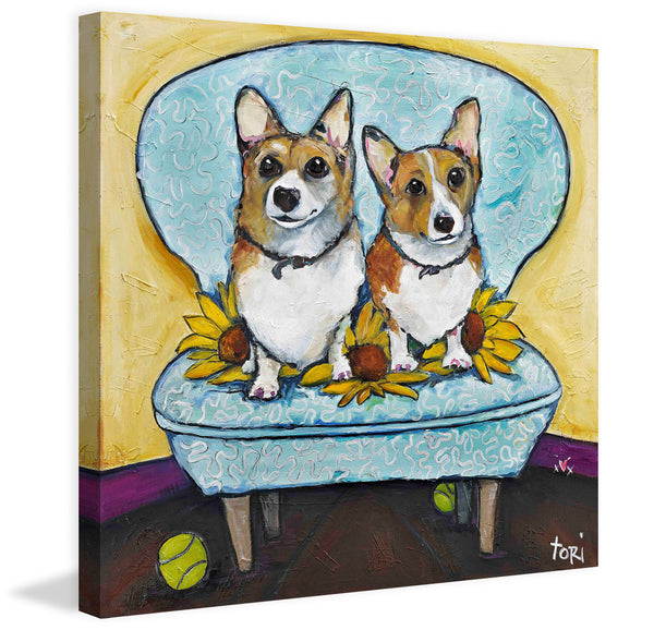 Corgi's In Chair
