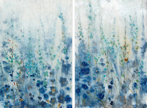Misty Blooms Diptych