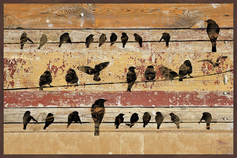Birds on Wood V