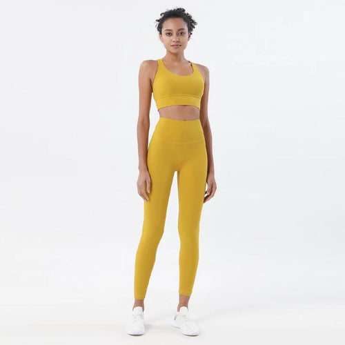 Baller Babe Crop Tops Rise yellow sports crop top