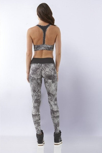 Snake Print Sports Crop - Be Activewear