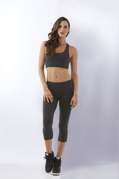 Solid Crop Sports Bra - Be Activewear
