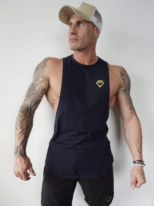 Mens Aesthetic Tank - Navy - Be Activewear