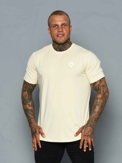 Mens Aesthetic Tshirt - Beige - Be Activewear
