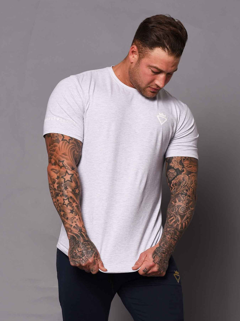 Mens Aesthetic Tshirt - Grey - Be Activewear