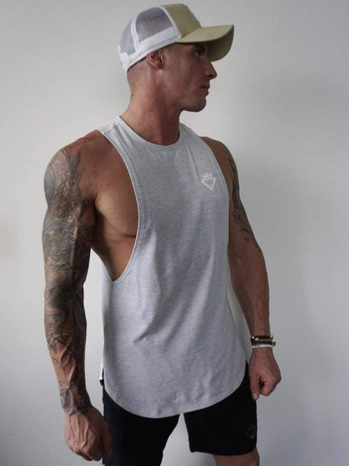 Mens Aesthetic Tank - Light Grey - Be Activewear
