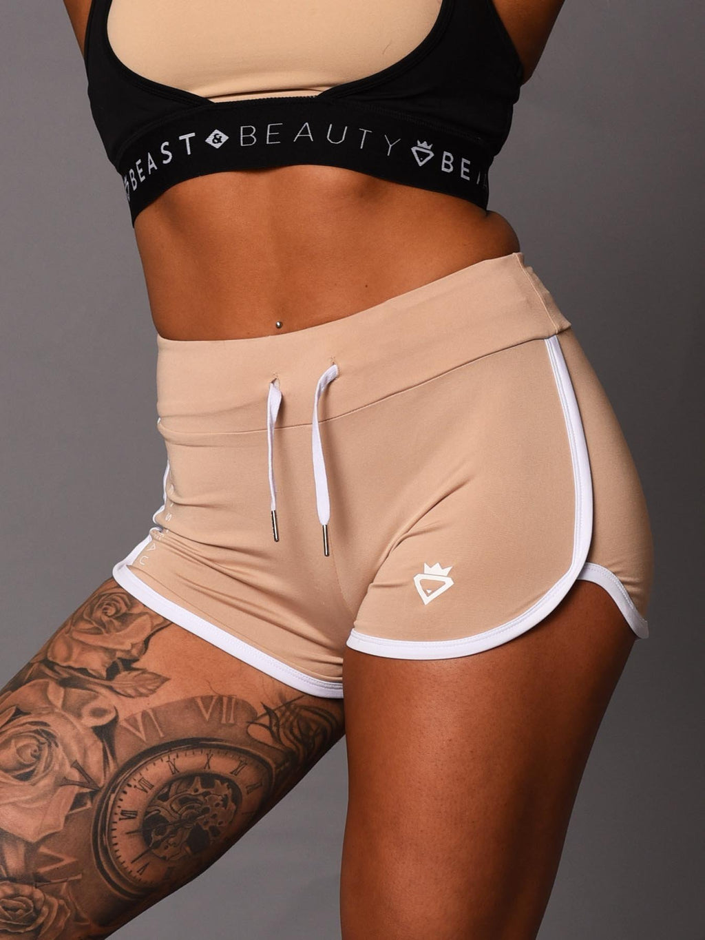 Beauty Booty Shorts - Beige - Be Activewear