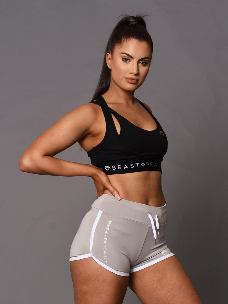 Beauty Booty Shorts - Grey - Be Activewear