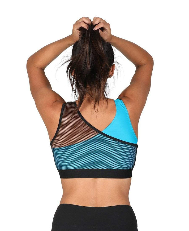 Ballet Mesh Crop Top Blue - Be Activewear