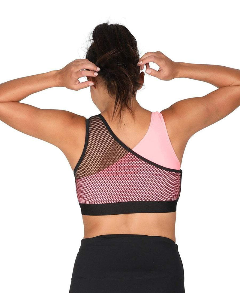 Ballet Mesh Crop Top Coral - Be Activewear