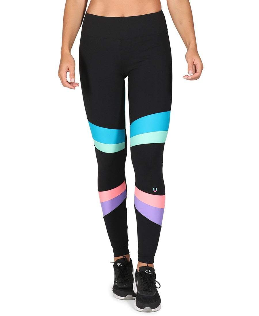 Angles Leggings Blue Violet - Be Activewear