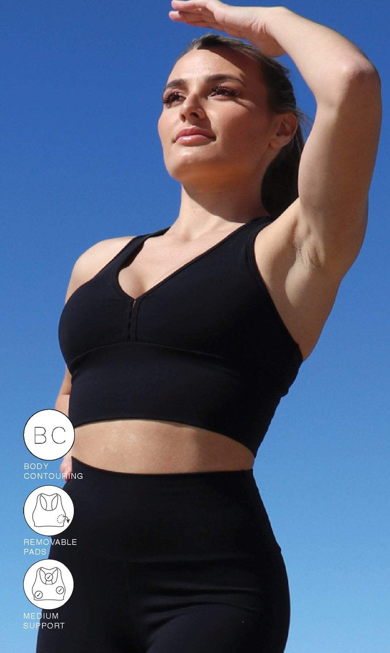 Midnight Body Contouring Racer Back Bra - Be Activewear