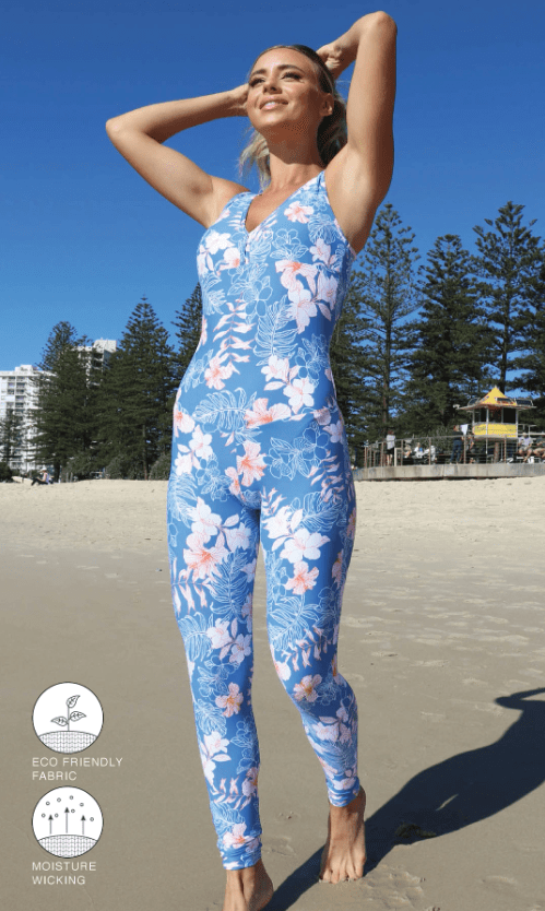 Hibiscus Kiss Unitard - Be Activewear