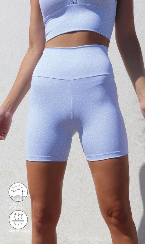 Carra Lee Active Shorts Blue Cloud Star Dust Body Luxe Midi Shorts